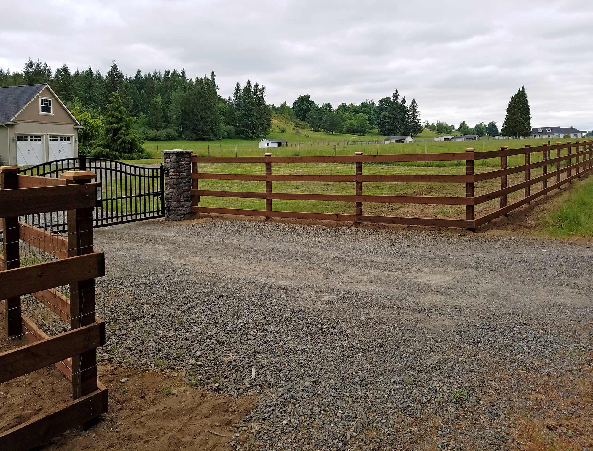Evergreen Valley Farm Fence Ajb Landscaping Amp Fence