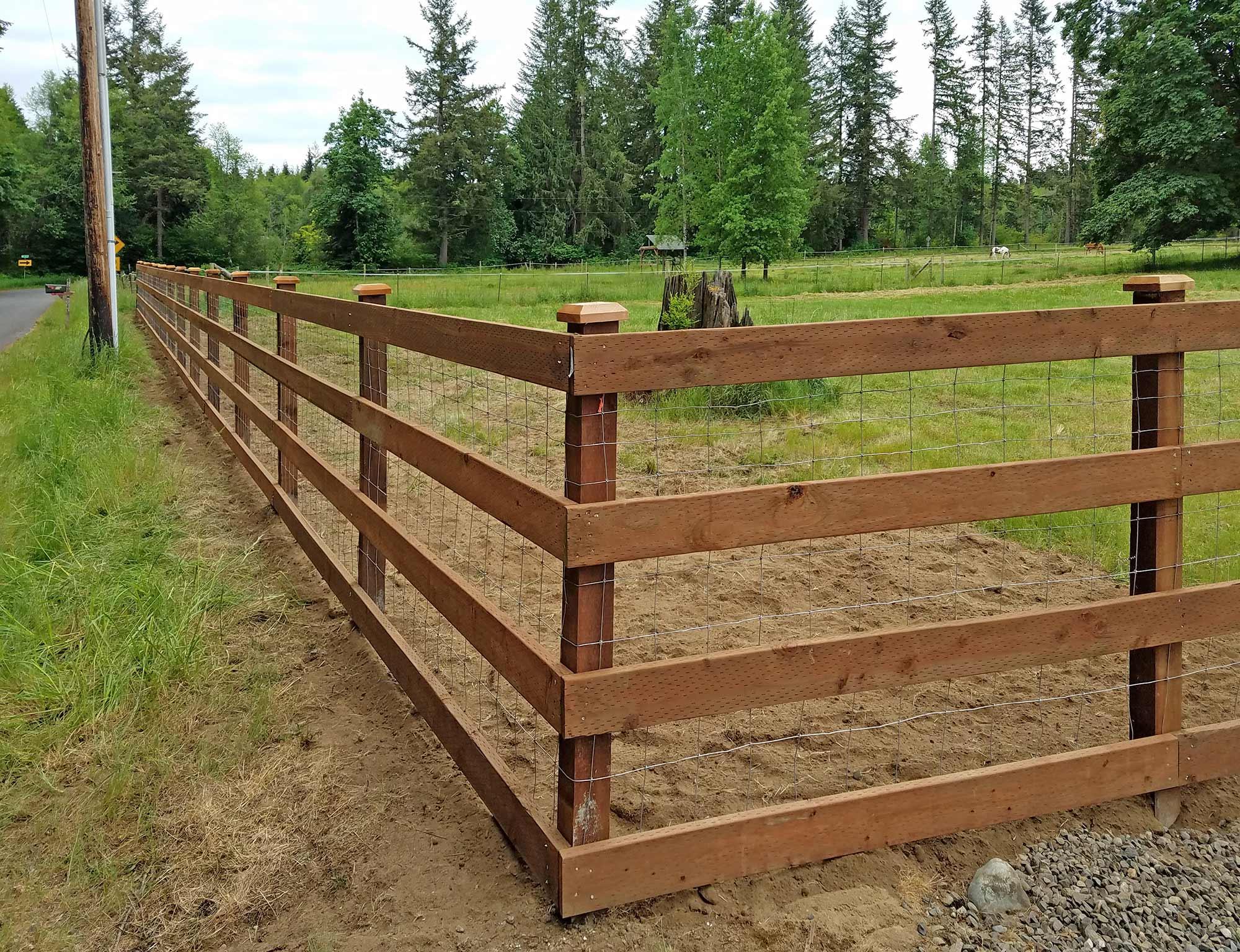 wooden farm fence. Farm Fence Wooden C