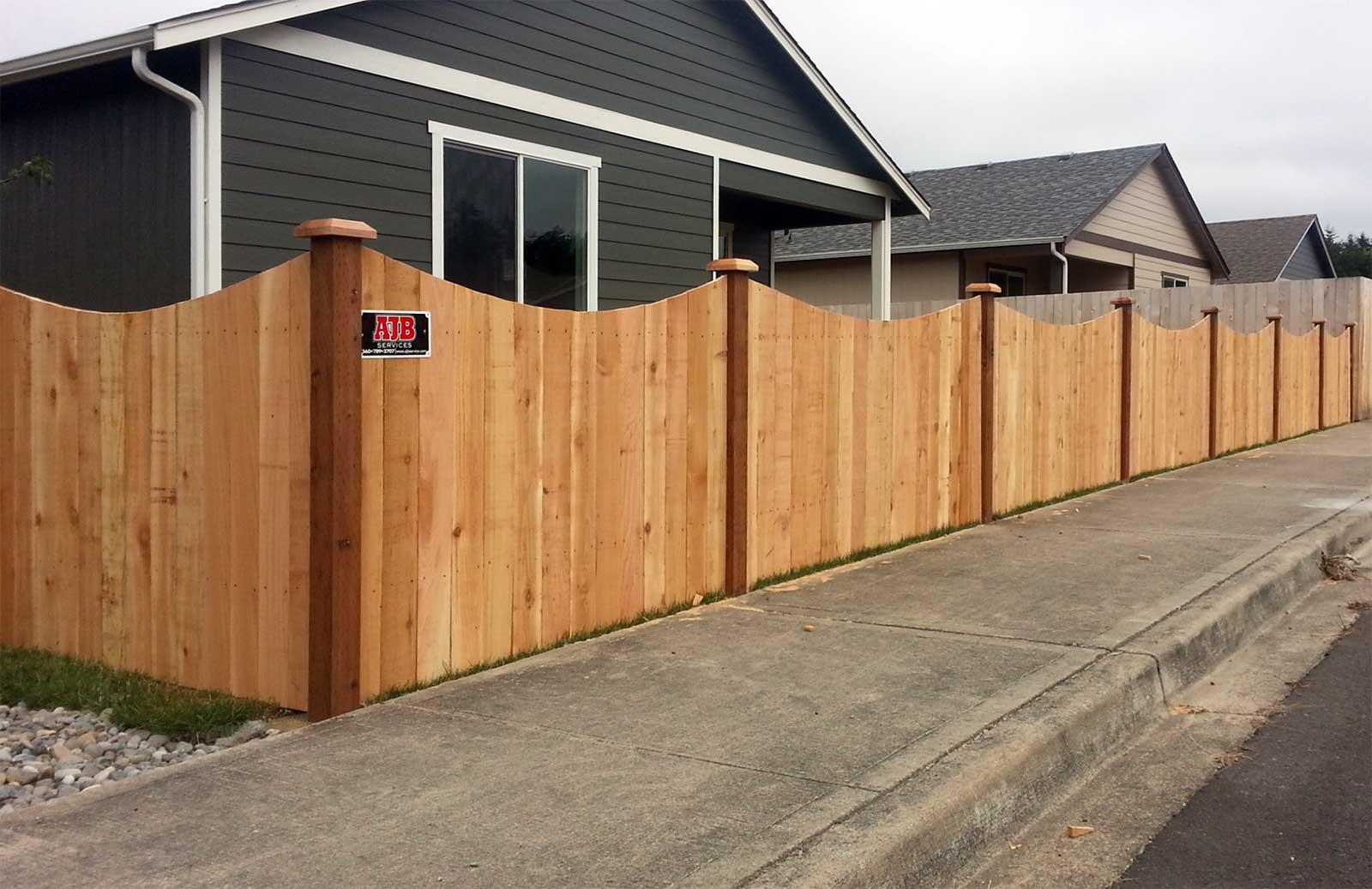 Scalloped Profile Cedar Fence, Rochester, Washington