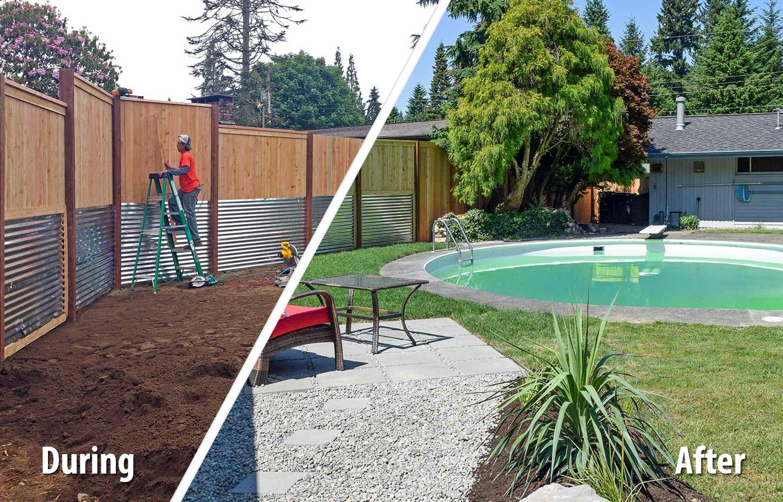 South Olympia Poolside Transformation Ajb Landscaping