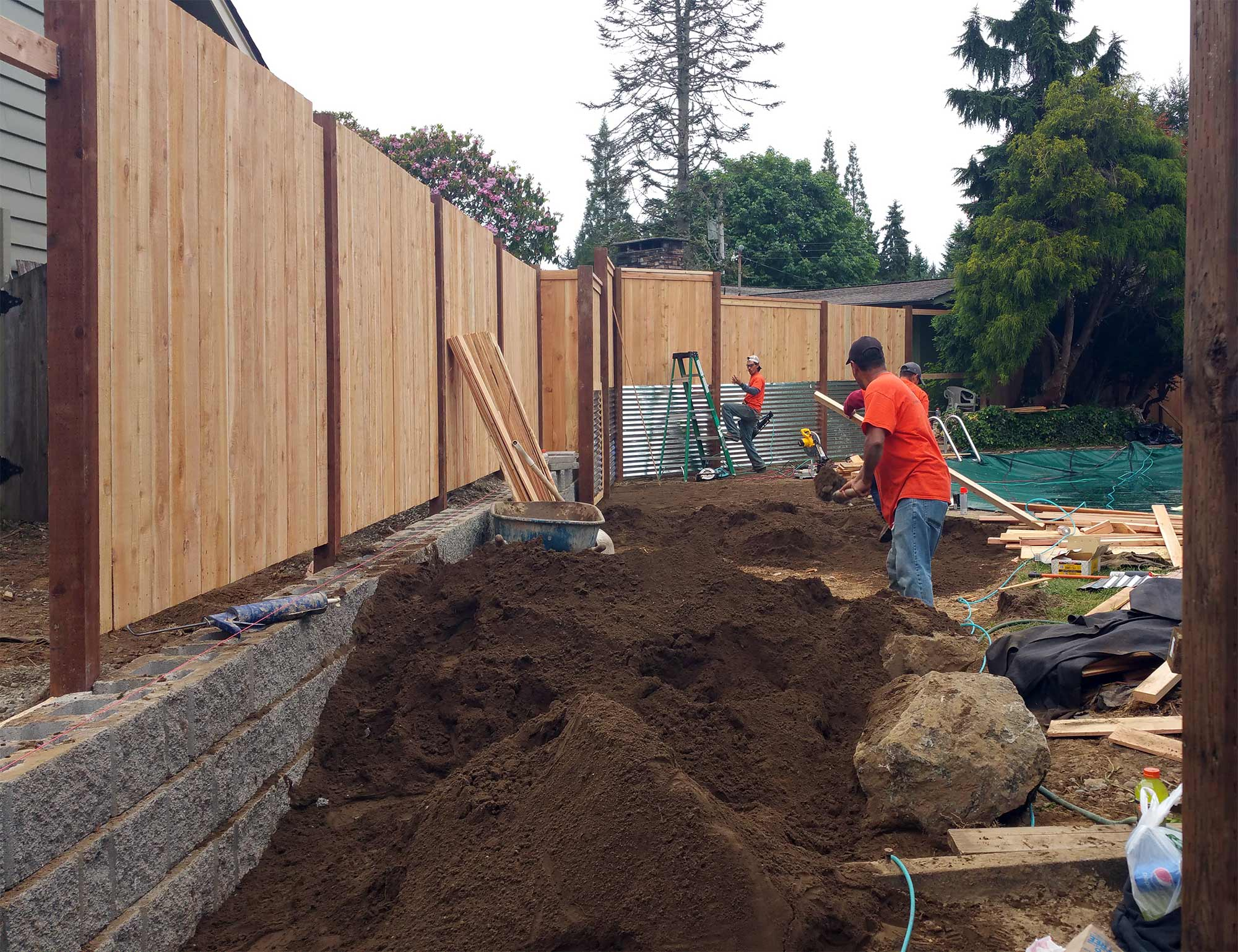 South Olympia Poolside Transformation - AJB Landscaping & Fence