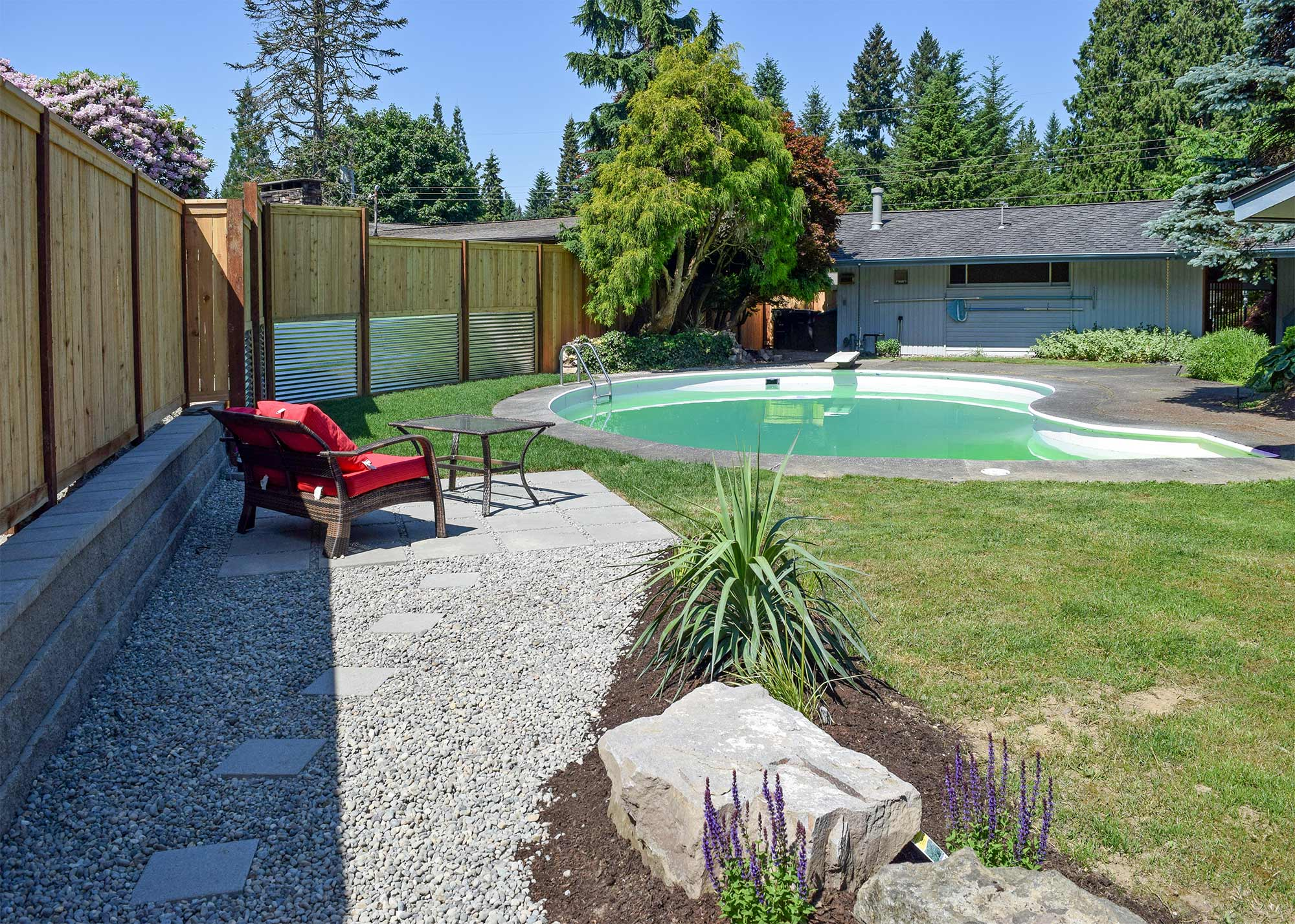 south olympia poolside transformation ajb landscaping u0026 fence