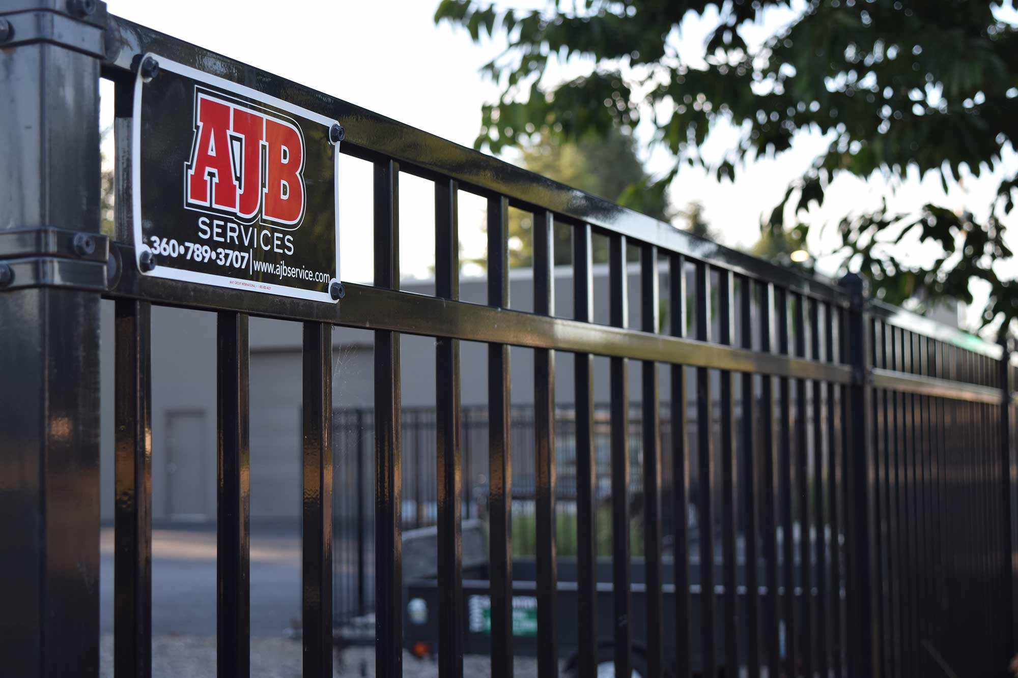 Commercial Property Security : Tumwater commercial security fence ajb landscaping