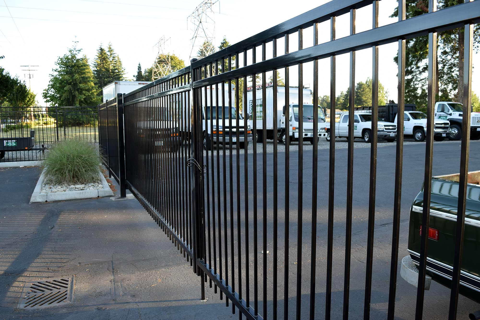 Tumwater commercial security fence ajb landscaping