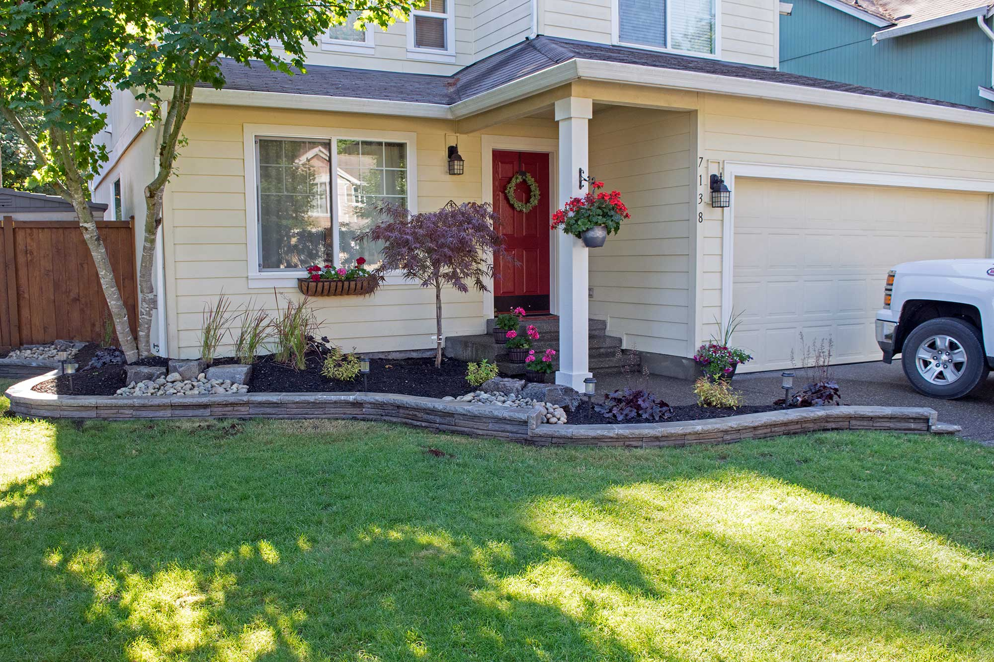 Thurston County Landscaping Beds and Fire Pit - AJB ...