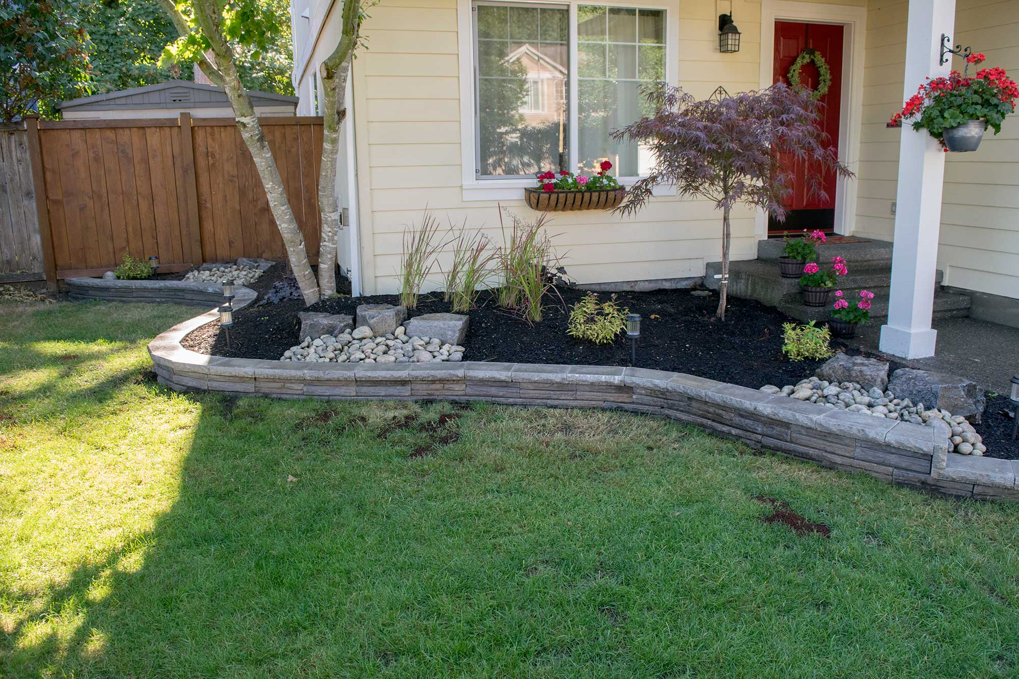 Thurston county landscaping beds and fire pit ajb for Garden design ideas for medium gardens