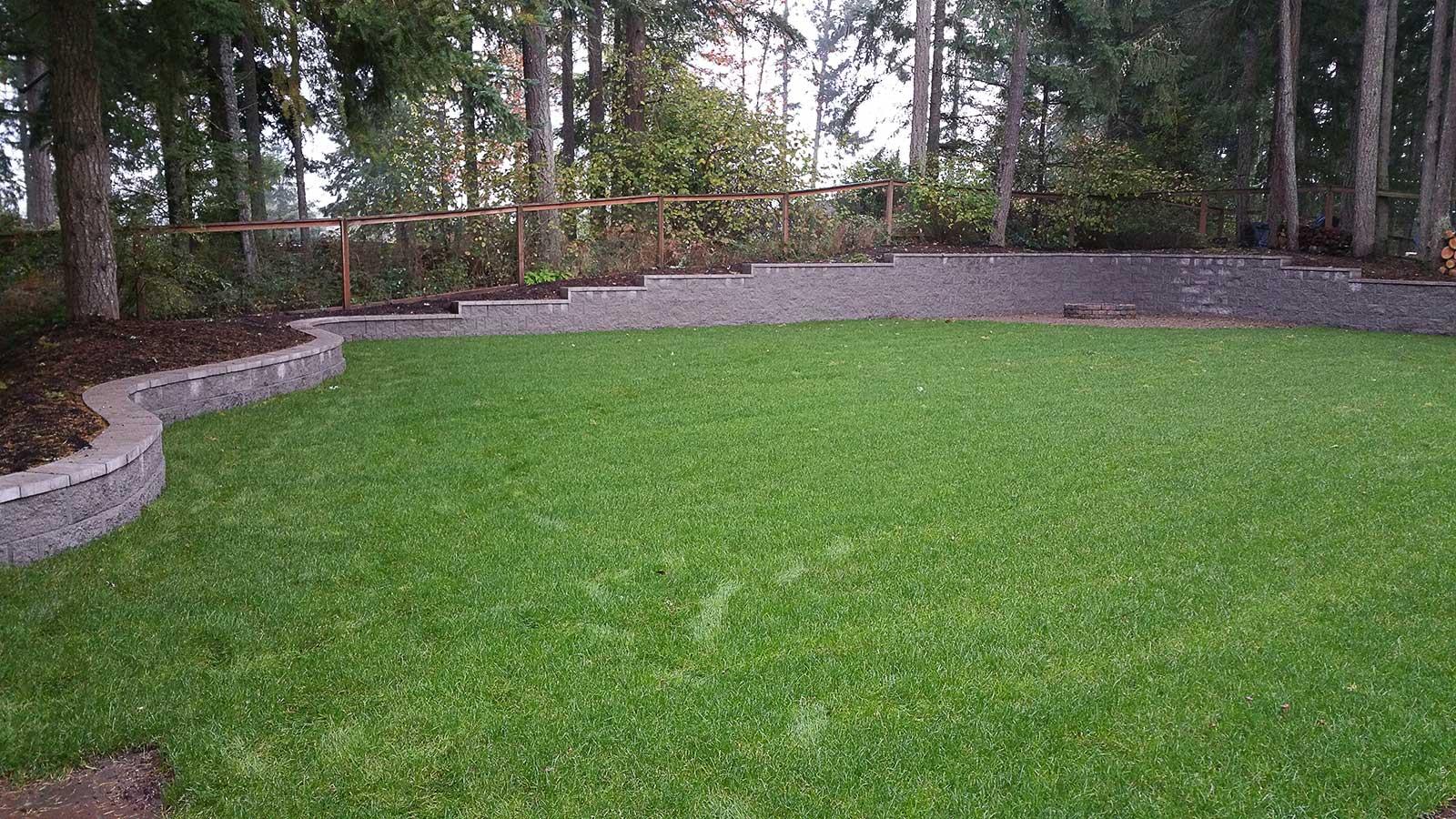 Back Yard Excavation : Complete backyard landscaping overhaul in east olympia