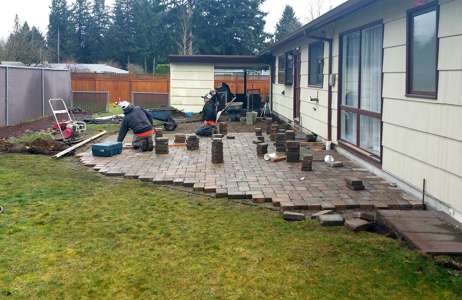Paver Patio Installation, View 2 Paver Patio Installation, View 2 ...