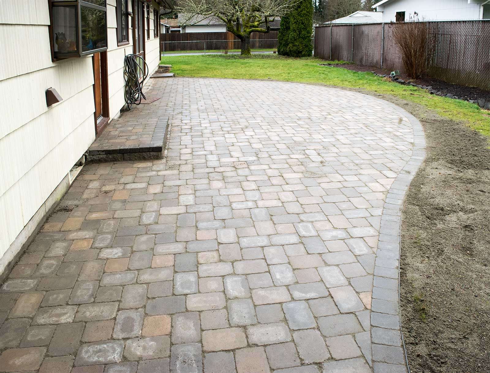Finished Paver Patio Finished Paver Patio ...