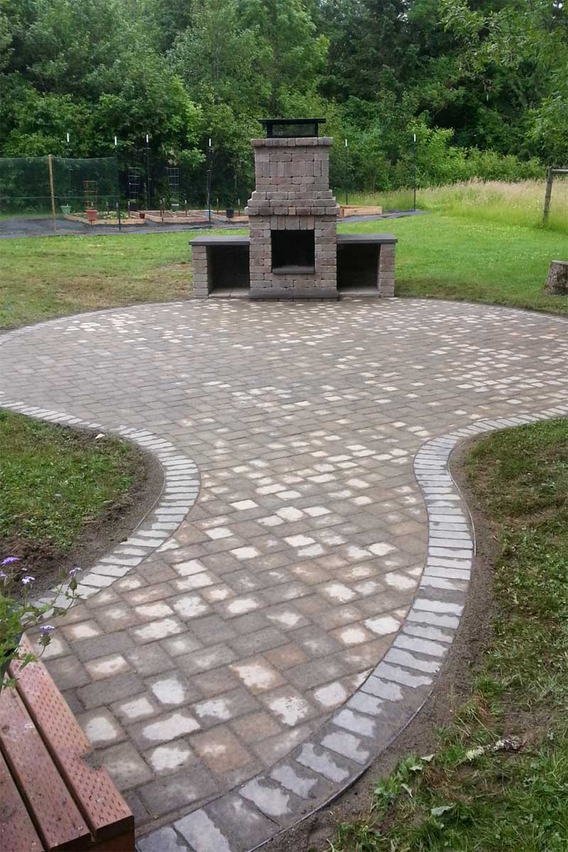 Chehalis Outdoor Fire Pit, Matching Paver Patio - AJB ... on Pavers Patio With Fire Pit id=78032