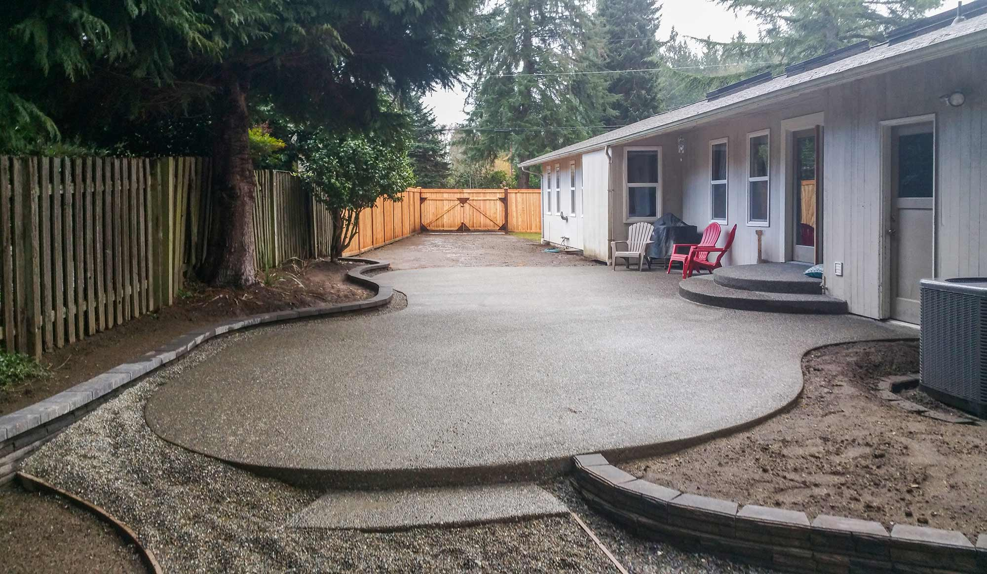Concrete Patio Work : Concrete and paver patio installation in olympia