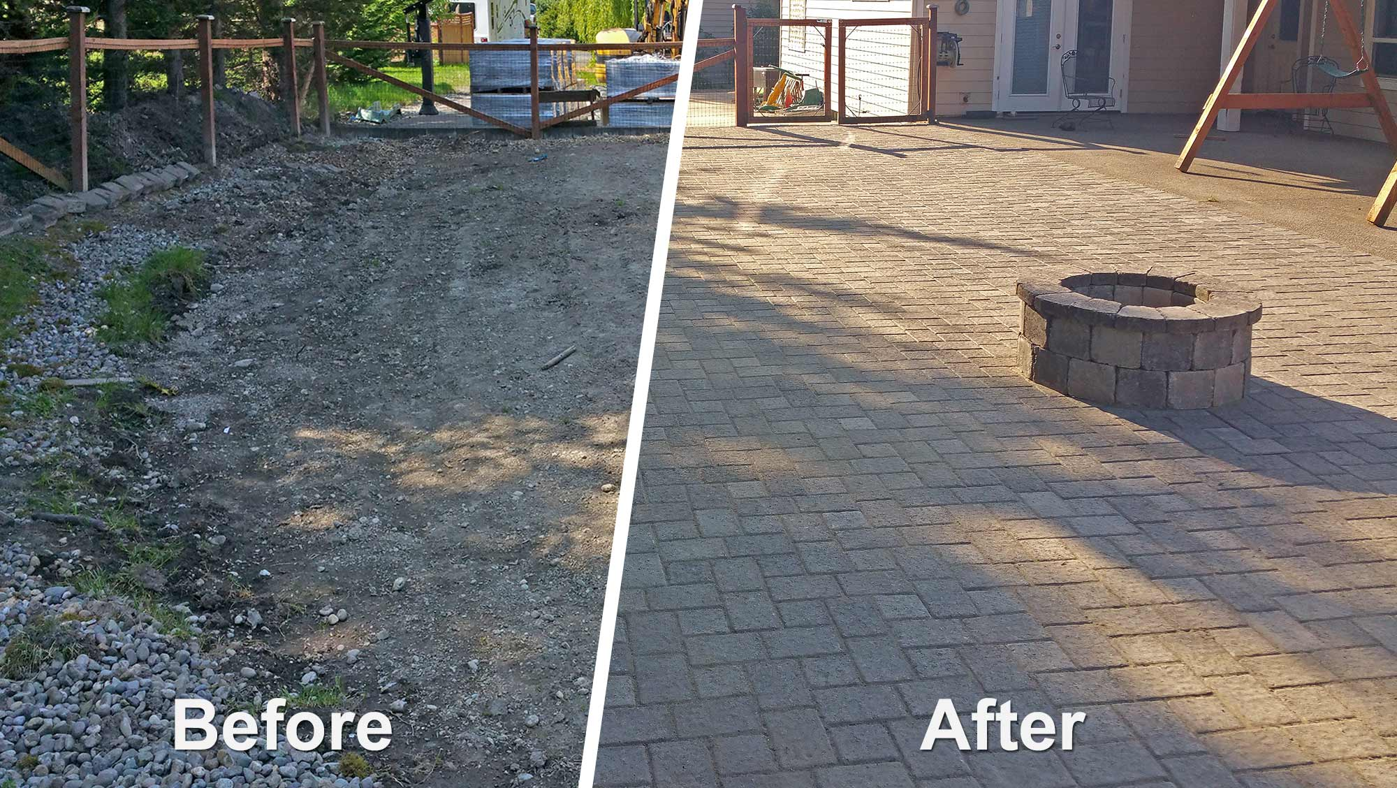 Delicieux Before And After: Paver Patio Extension Before And After: Paver Patio  Extension ...
