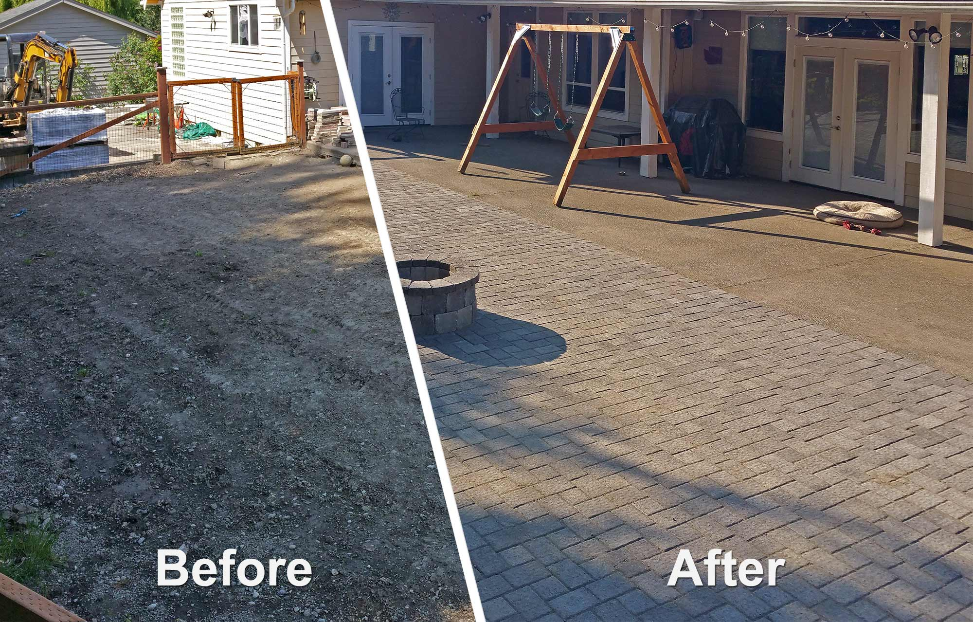 before and after owner photos before and after owner photos - Patio Installation