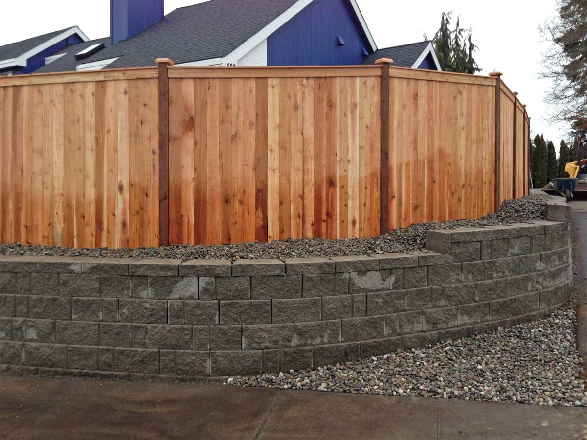 Spanaway Retaining Wall And Privacy Fence Ajb