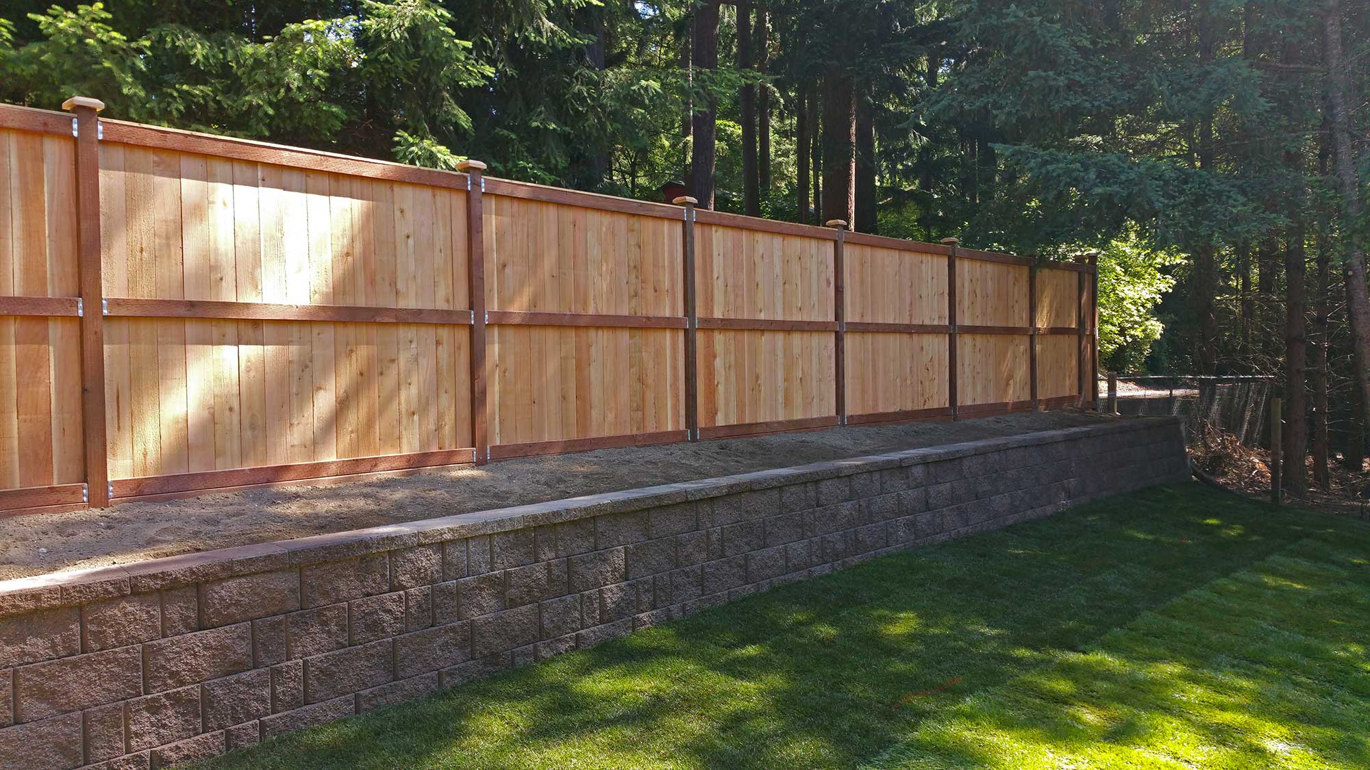 Lacey Retaining Wall And Privacy Fence Ajb Landscaping
