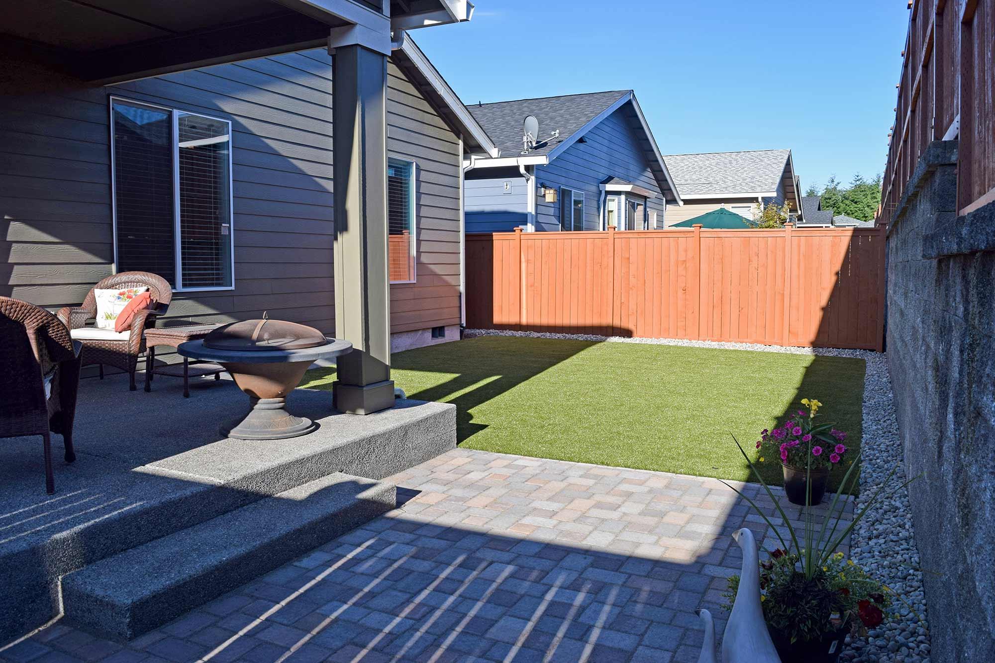 hawks prairie 55 community backyard with k9 grass ajb
