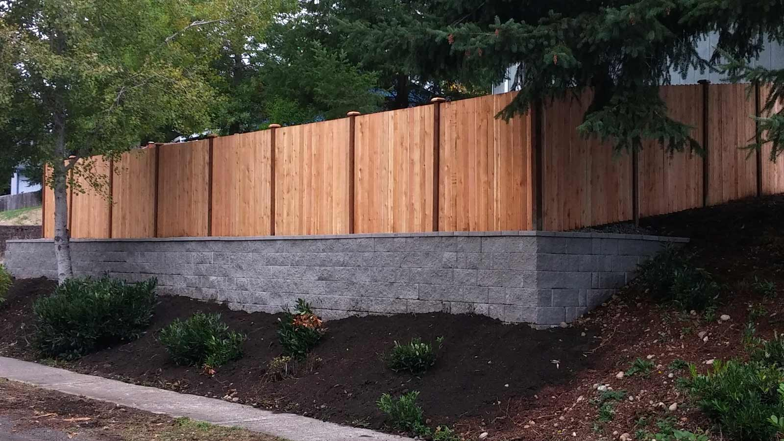 Dramatic Facelift With New Fence And Retaining Wall AJB