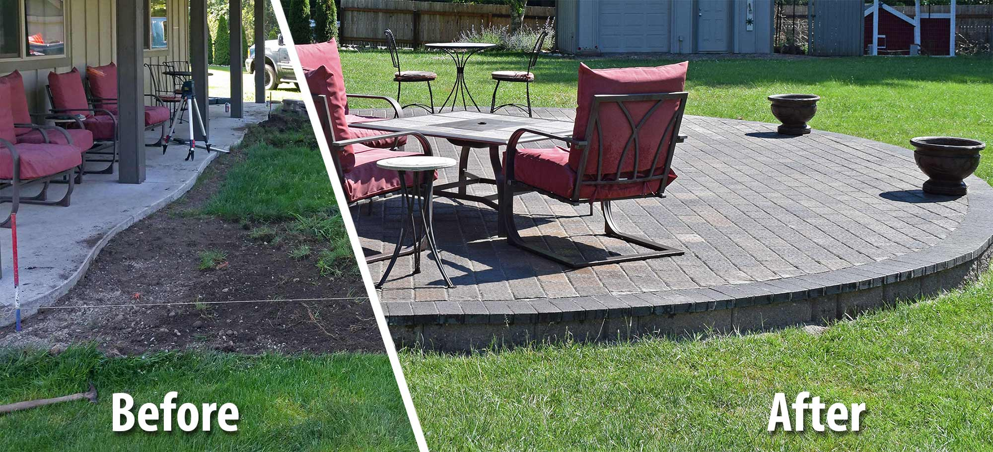 Before And After: Raised Paver Patio Before And After: Raised Paver Patio  ...