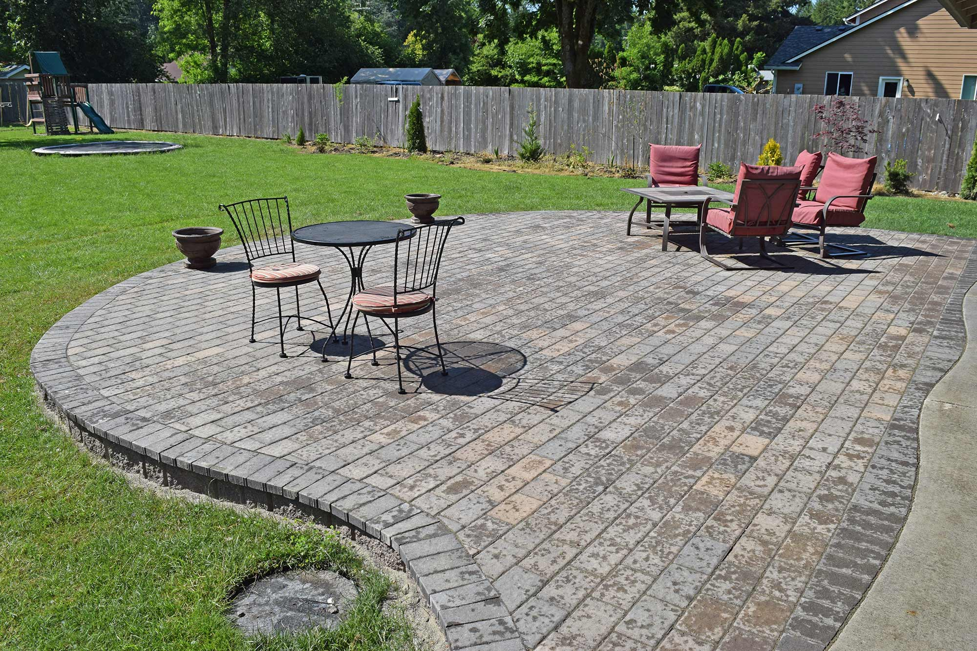 Finished Raised Paver Patio Finished Raised Paver Patio