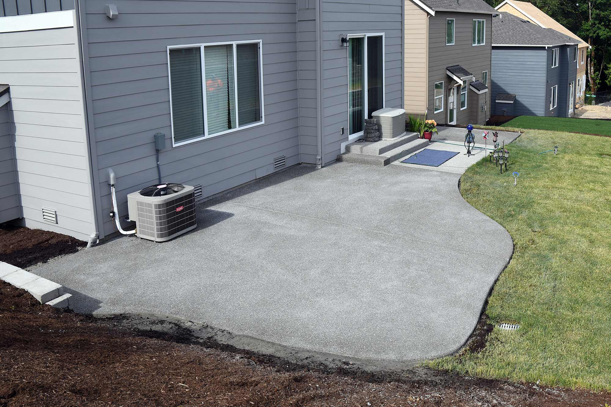 Exposed Aggregate Patio Extension Exposed Aggregate Patio Extension ...