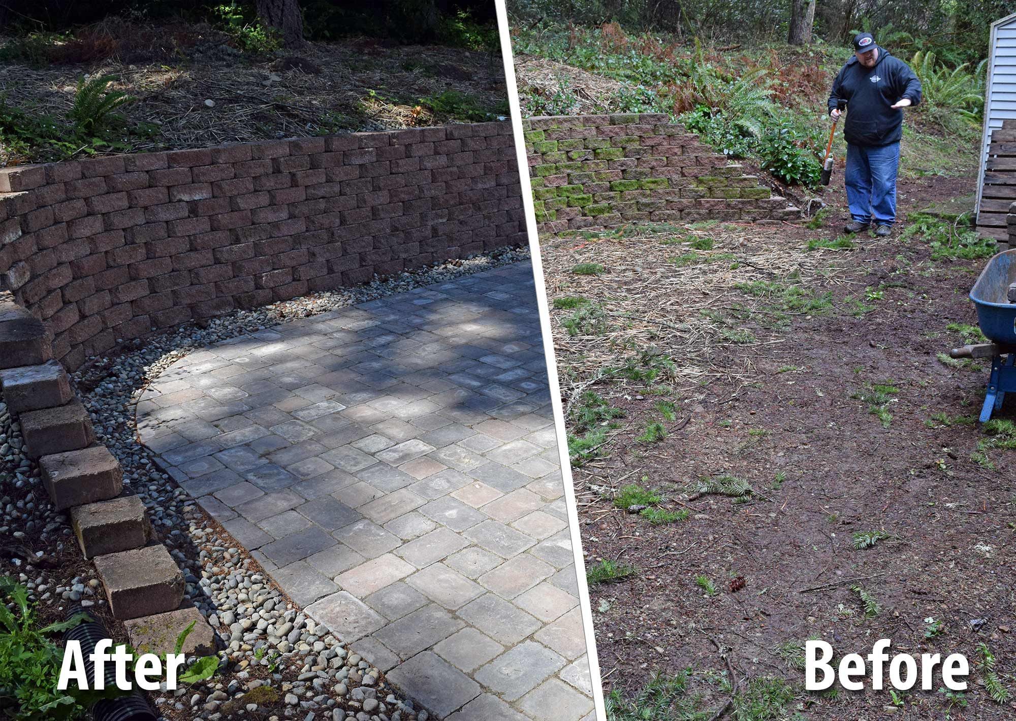 Before And After Paver Patio Extension