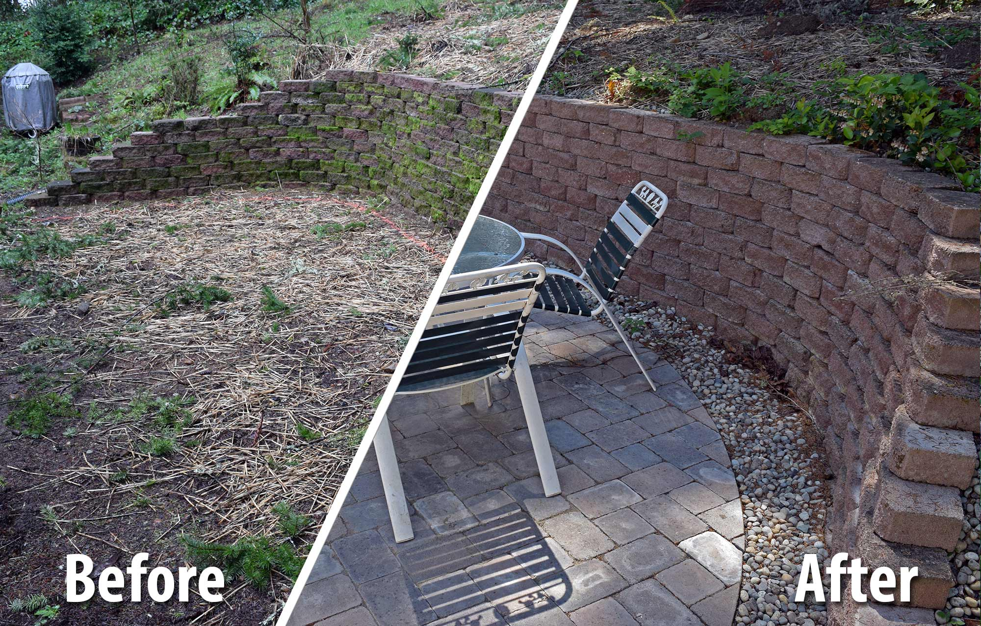Before And After: Paver Patio Extension Before And After: Paver Patio  Extension ...