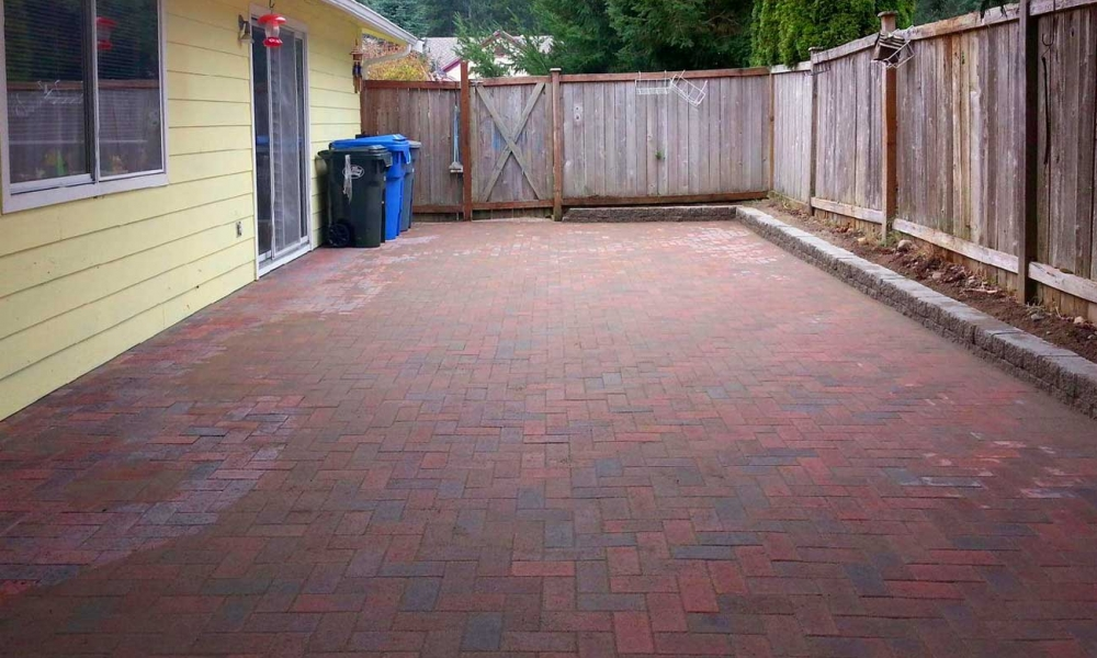 Concrete and Paver patio installation in Olympia and Tacoma